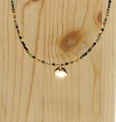 Collier Rive Doux Perles & Pastille Or