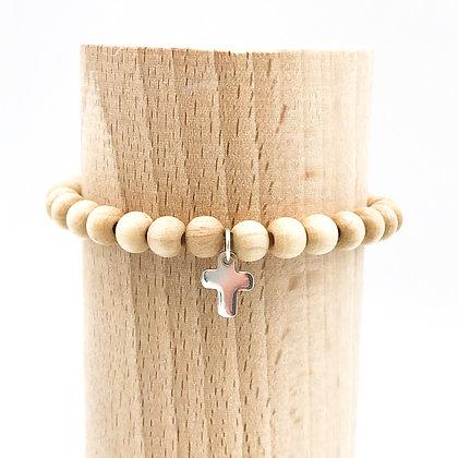 Bracelet Rive Doux Croix Argent
