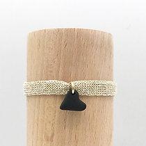Bracelet Petit Amour Sable Noir & Coton recyclé