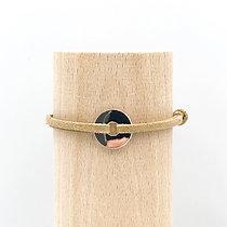 Bracelet Petit Loya Argent & Lien Daim Chic