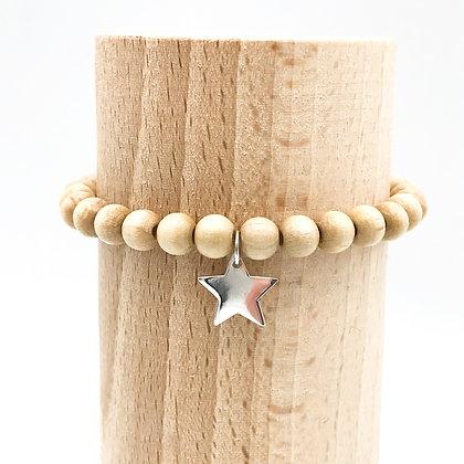 Bracelet Rive Doux Etoile Argent