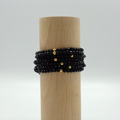 Bracelet Petit Sable Noir & Or