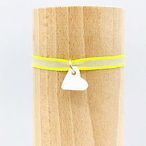 Petit Amour Sable Blanc & Lien Tissu Fluo