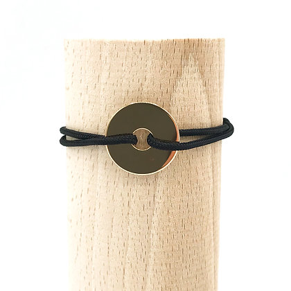 Bracelet Grand Loya Or & Cordage Chic