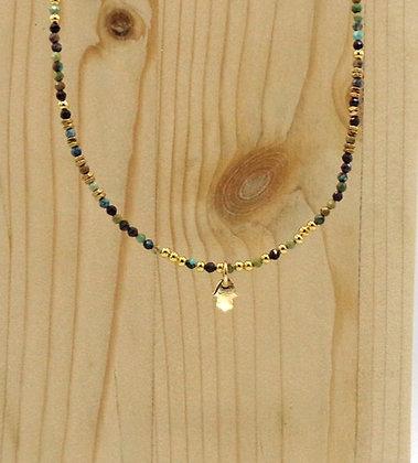 Collier Rive Doux Perles & Main de Fatma Or