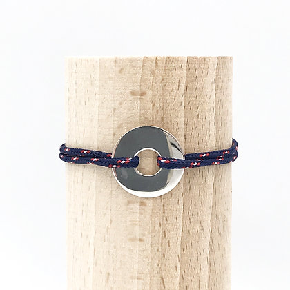 Bracelet Grand Loya Argent & Cordage Sport