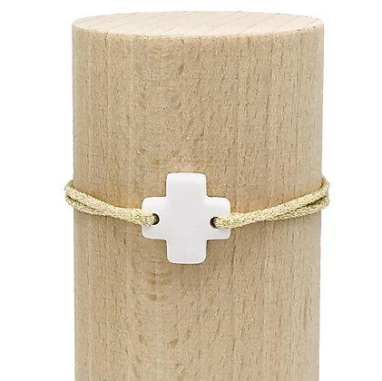 Bracelet Petit Notre Dame 2T Sable Blanc
