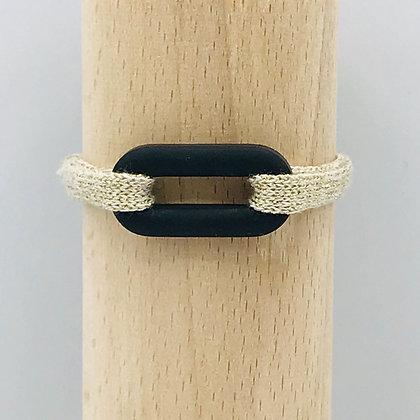 0 de 0cean Side Sable Noir & Coton Simple