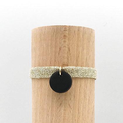 Bracelet Milady Sable Noir & Coton recyclé