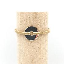 Bracelet Grand Loya Argent & Lien Daim Chic