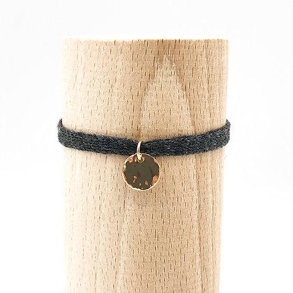 Bracelet Petit Baigneur Coton & Pastille Martelée