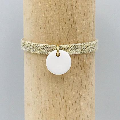 Bracelet Milady Sable Blanc & Coton recyclé