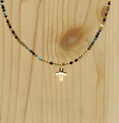 Collier Rive Doux Perles & Croix Or