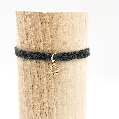 Bracelet Petit Baigneur Coton & Etoile de David