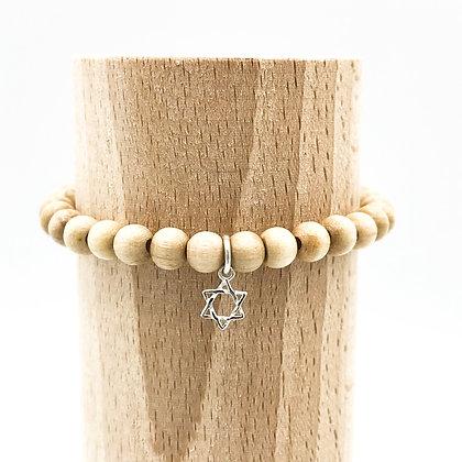 Bracelet Rive Doux Etoile de David Argent