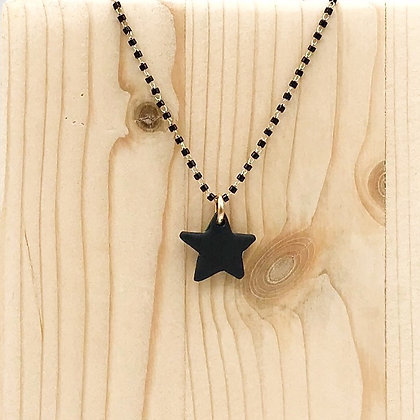 Collier Petit Madrague Sable Noir