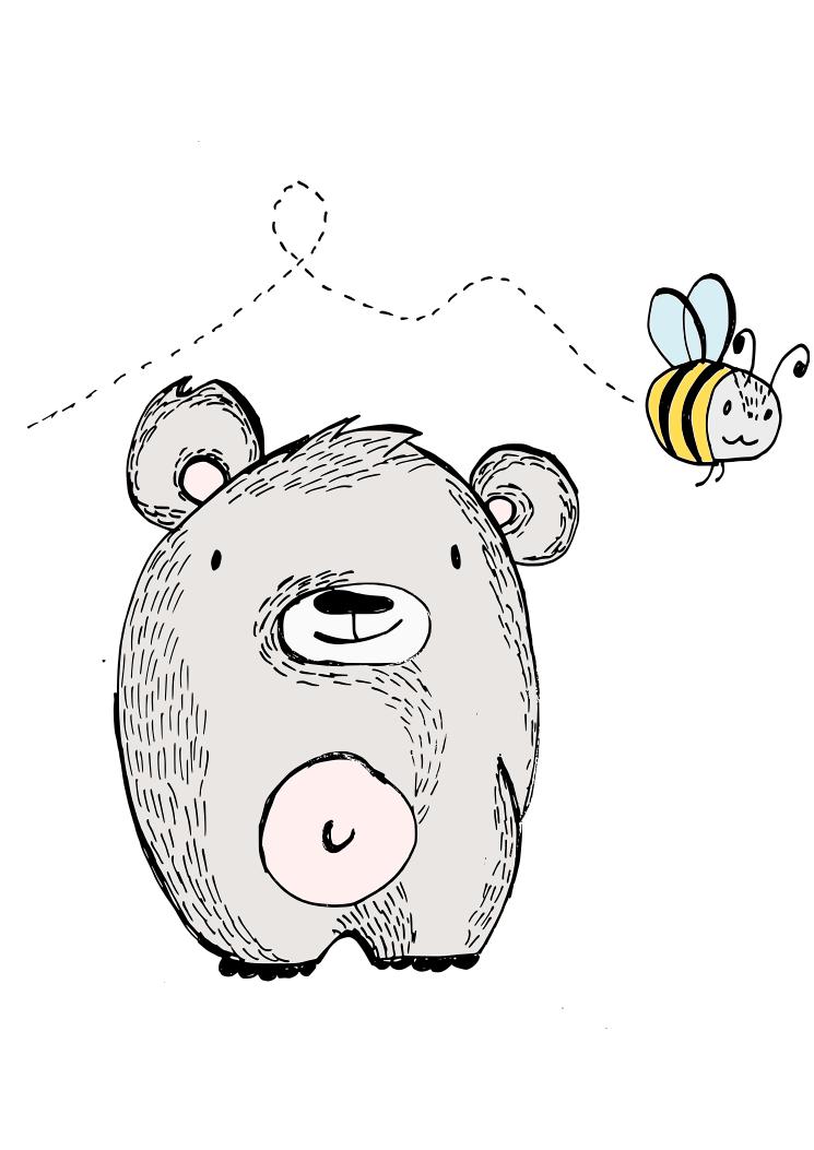 miś i pszczoła