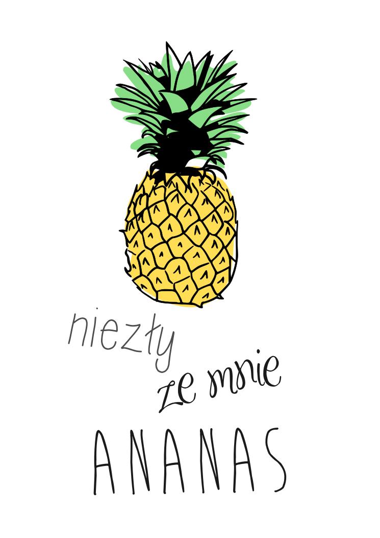 ananas - plakat