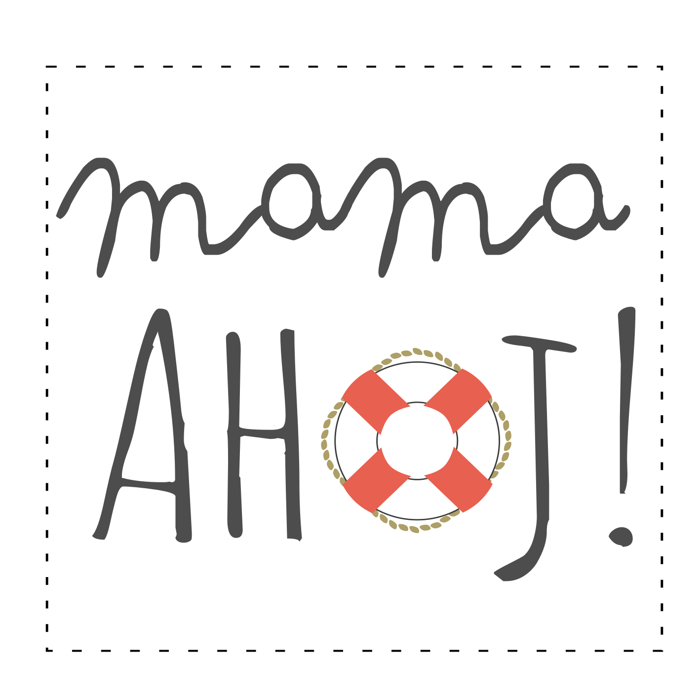 ahoj mama - logo