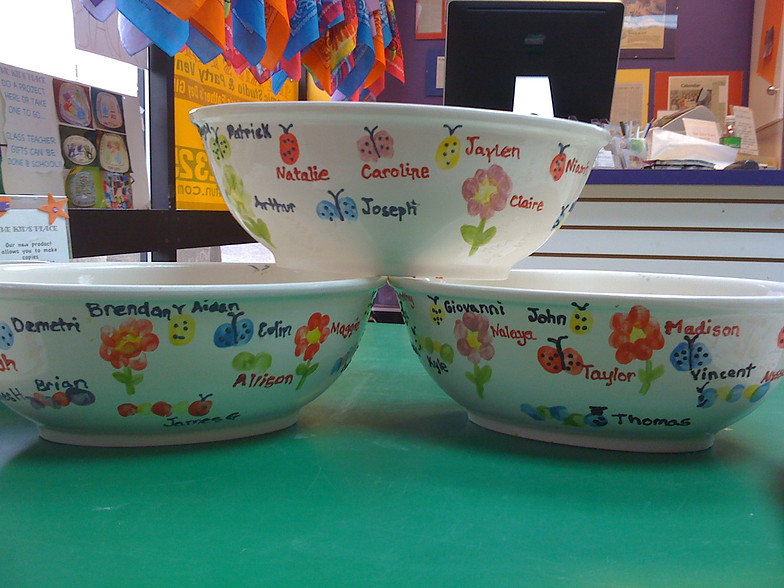 Teacher gift/Auction Projects | Paint Pottery|Wellesley