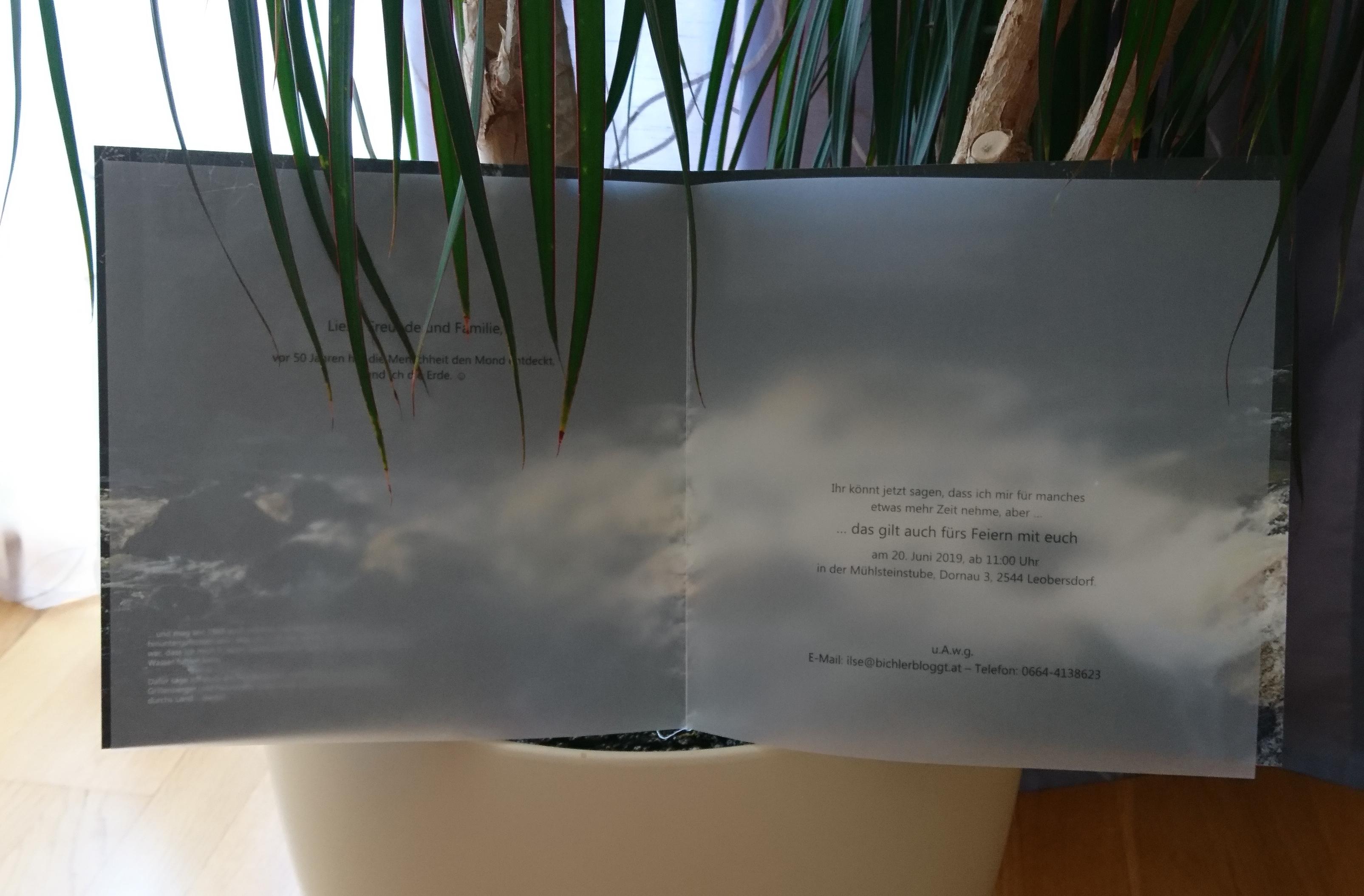 Ein transparentes Einlageblatt
