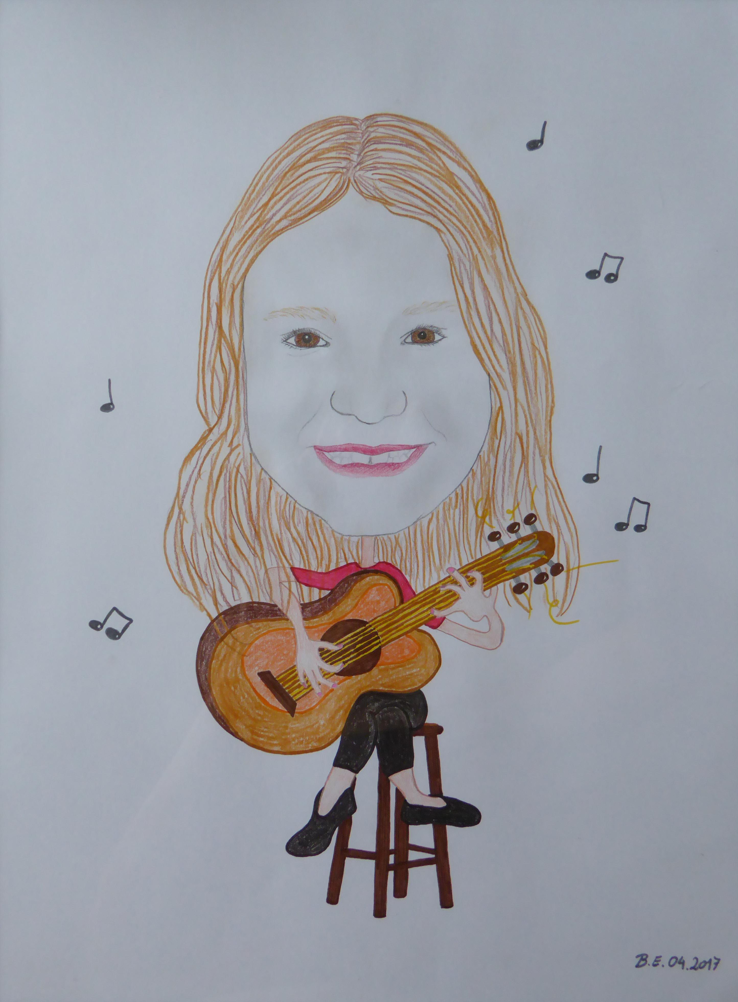 Kleine Gitarristin