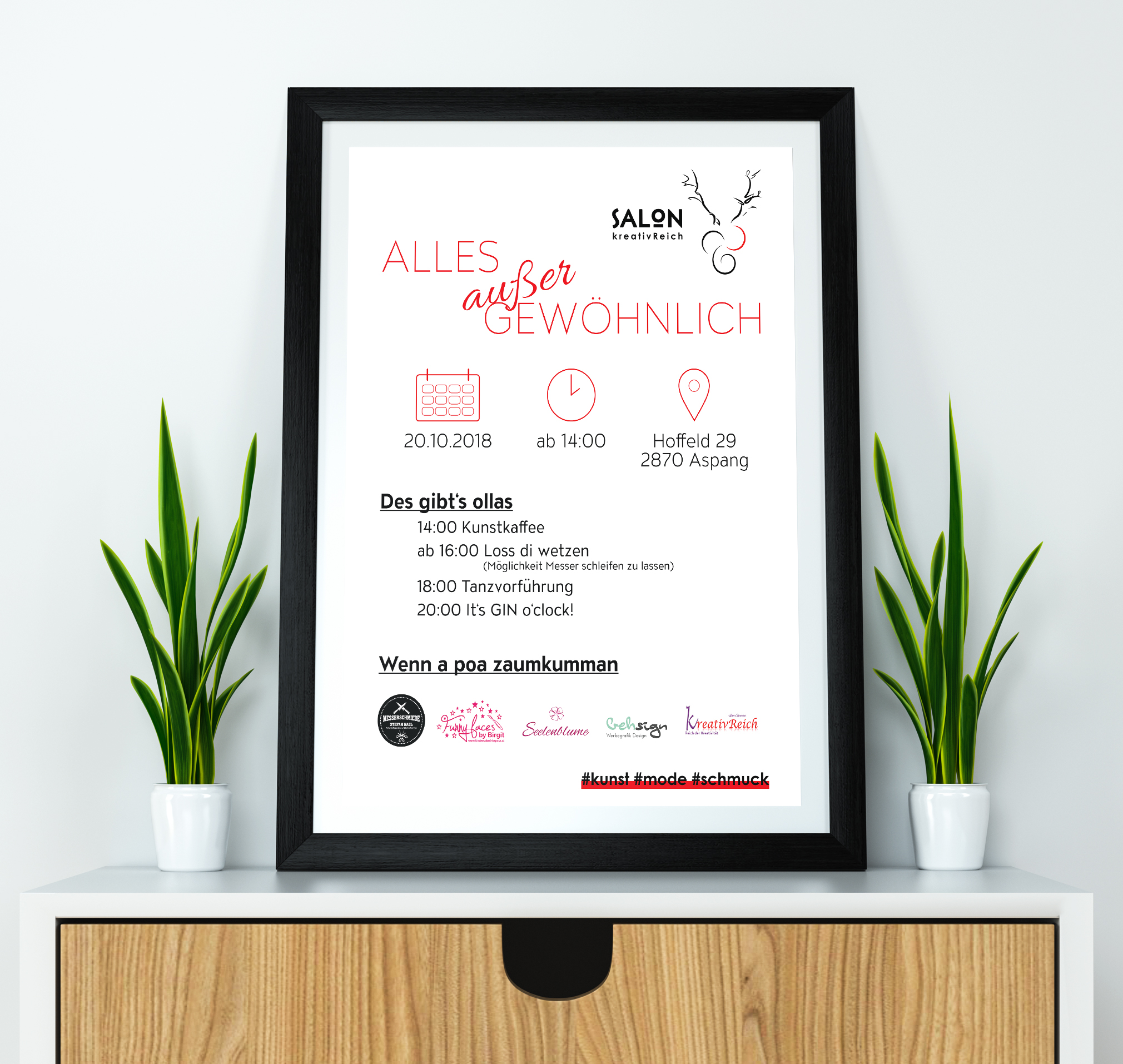 Salon kreativReich-Plakat