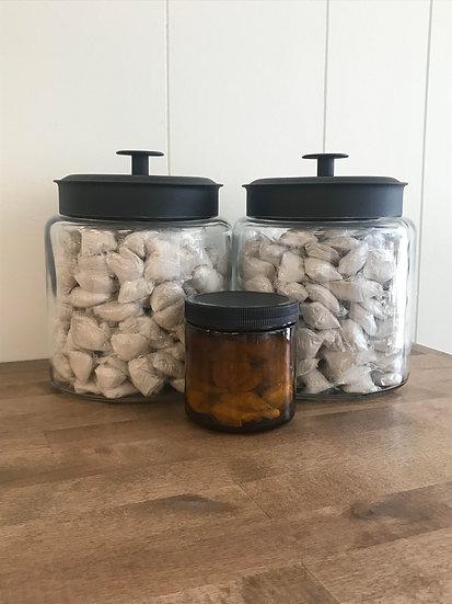 25 Dropps Fabric Softener Pods, 16 oz Amber Jar