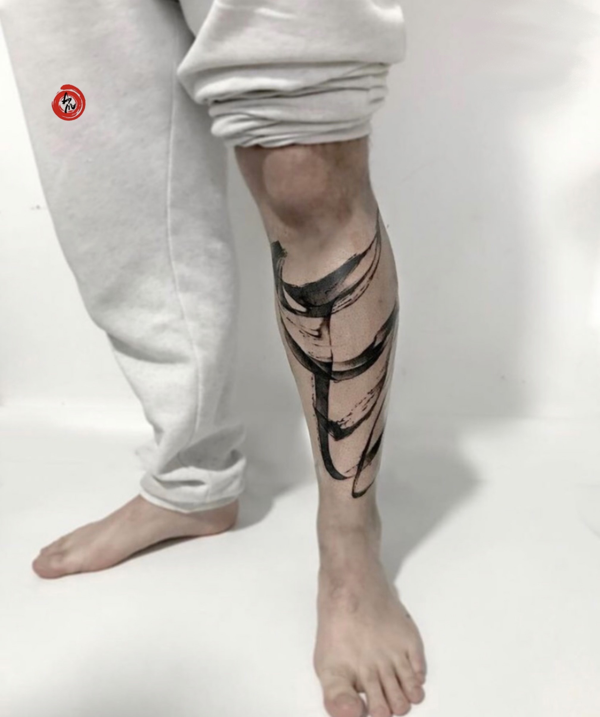 brushstroke tattoo