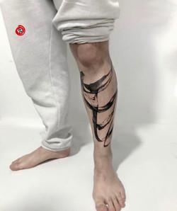 brushstroke tattoo