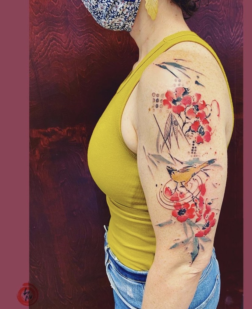 brushwork tattoo