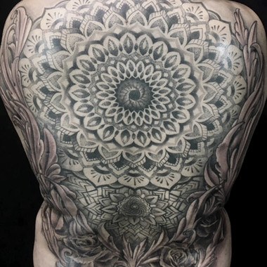 mandala backpiece