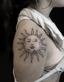 lifework sun tattoo