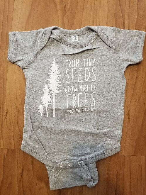 Baby Onsie - Tiny Trees (limited sizes and colour)