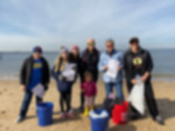 Youth beach clean up