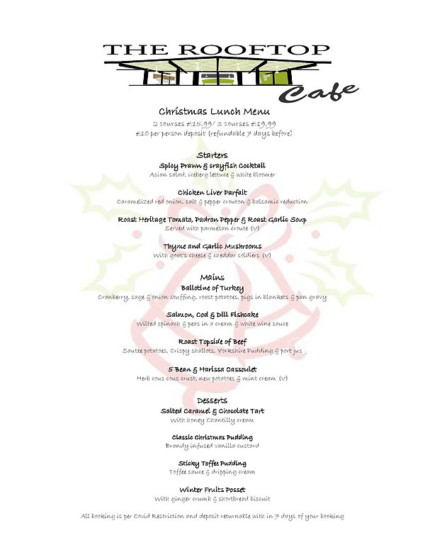The Rooftop Cafe Christmas Menu 2020 Lun