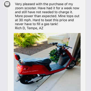 Richard loves his Zoom Electric Scooter!