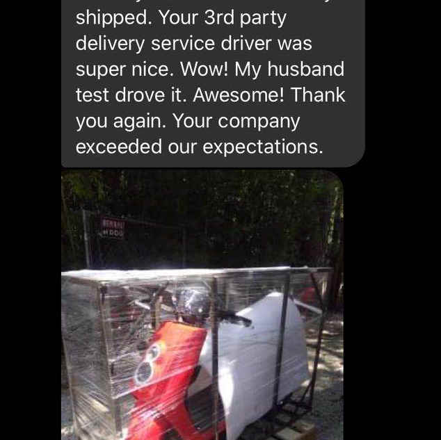 Happy Zoom Electric Scooter owner!