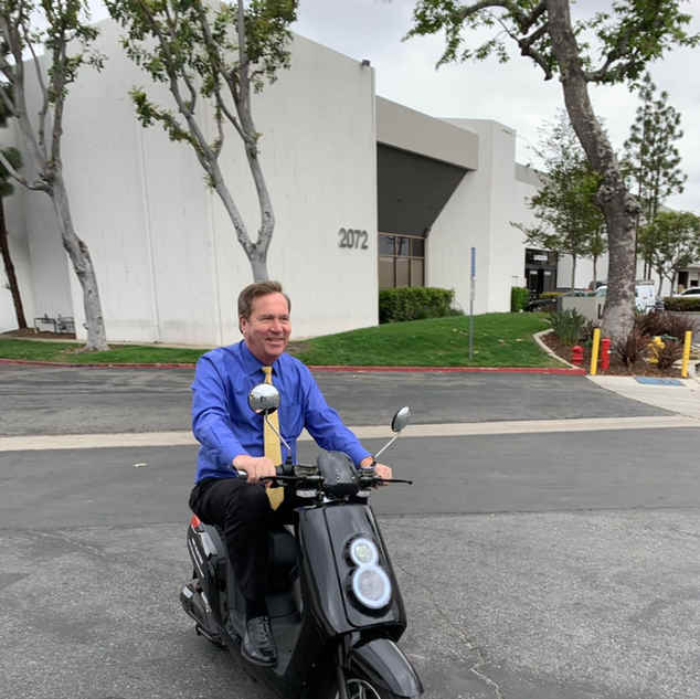 The Mayors loving the Zoom Electric Scooter