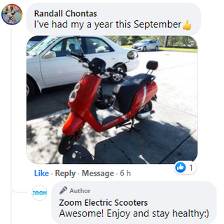 Happy Zoom Electric Scooter customers