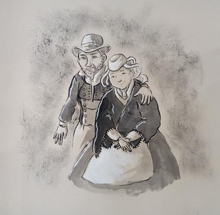 portrait d'un couple de bretons