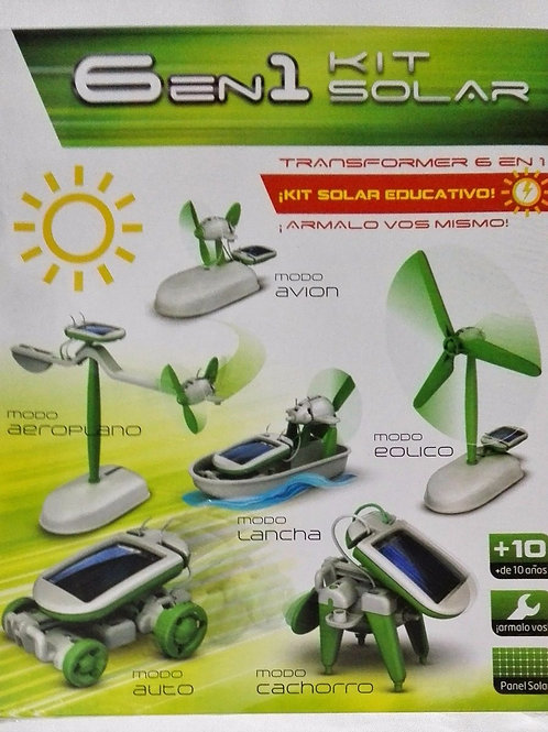 ROBOT KIT SOLAR - 6 EN 1