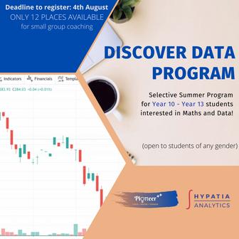 Discover Data: selective summer program 2021