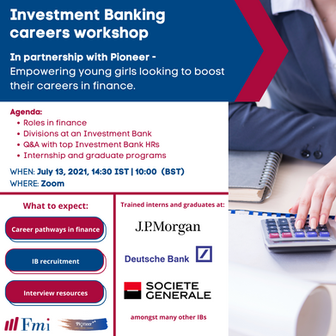 Investment Banking Careers Workshop with FMI (Financial Markets Institute)