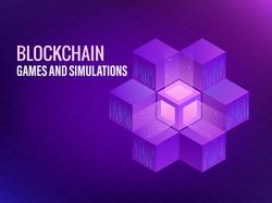 blockchain background_purple