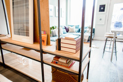 Model Unit 306. Bookshelf