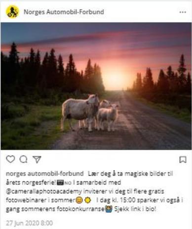Tekst til Instagram