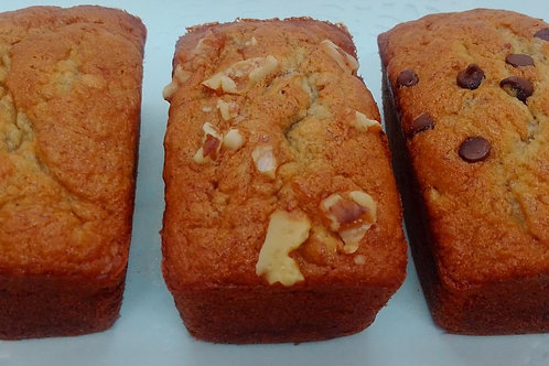 "Banana Bread - 3"" mini loaves"