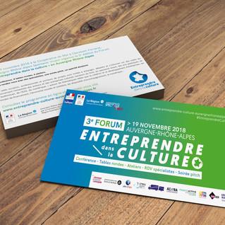 Invitation Forum Entreprendre dans la Culture