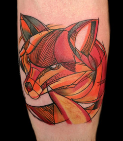fox watercolor - left forearm